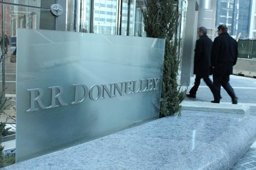 Fire damages RR Donnelley facility